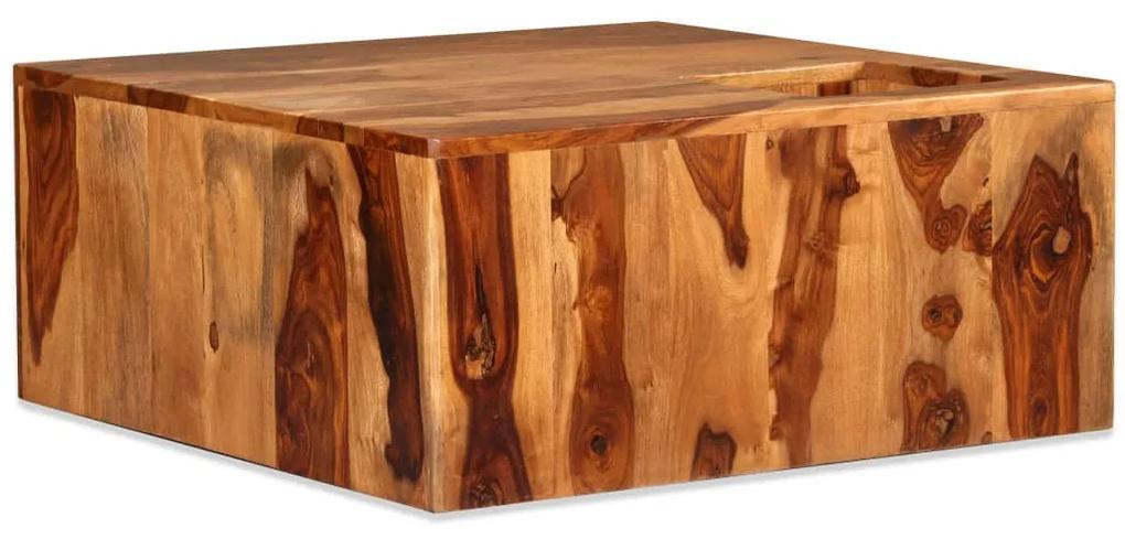 244927 vidaXL Măsuță de cafea, lemn masiv de sheesham, 70 x 70 x 30 cm