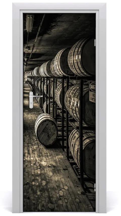 Autocolante pentru usi Ușă autoadeziv pe butoaie Bourbon