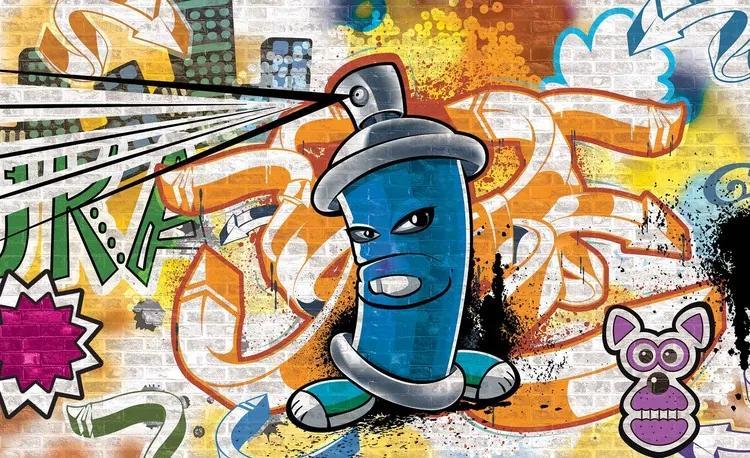 Graffiti Street Art Fototapet, (104 x 70.5 cm)