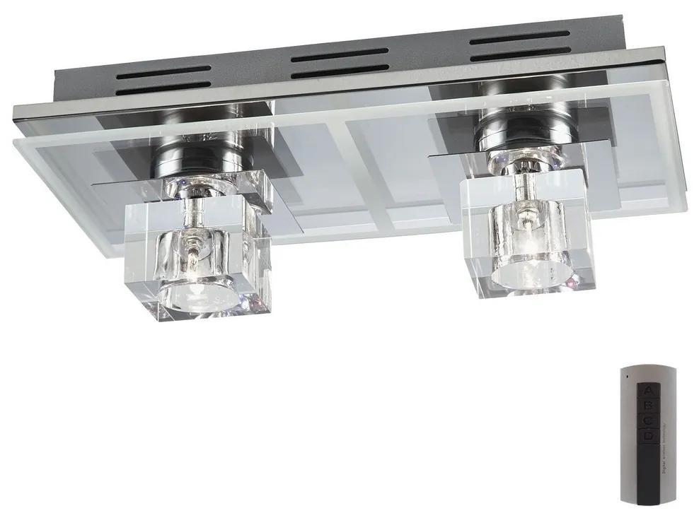 LED RGB Plafonieră dimmabilă SELIN 12xLED/0,06W/230V + 2xG4/20W + Telecomandă