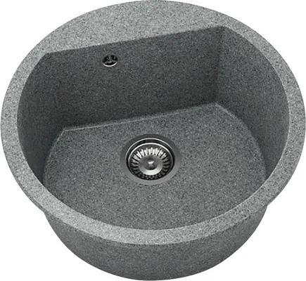 Chiuveta bucatarie rotunda FAT Avangard 223 din granixit, Ø 51 cm, Slate