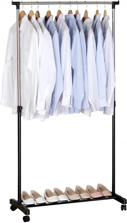 Suport mobil pentru haine din metal, 83x41x87-162 cm, reglabil