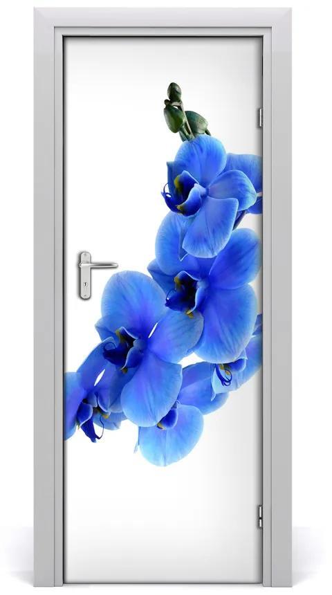 Autocolante pentru usi albastru orhidee