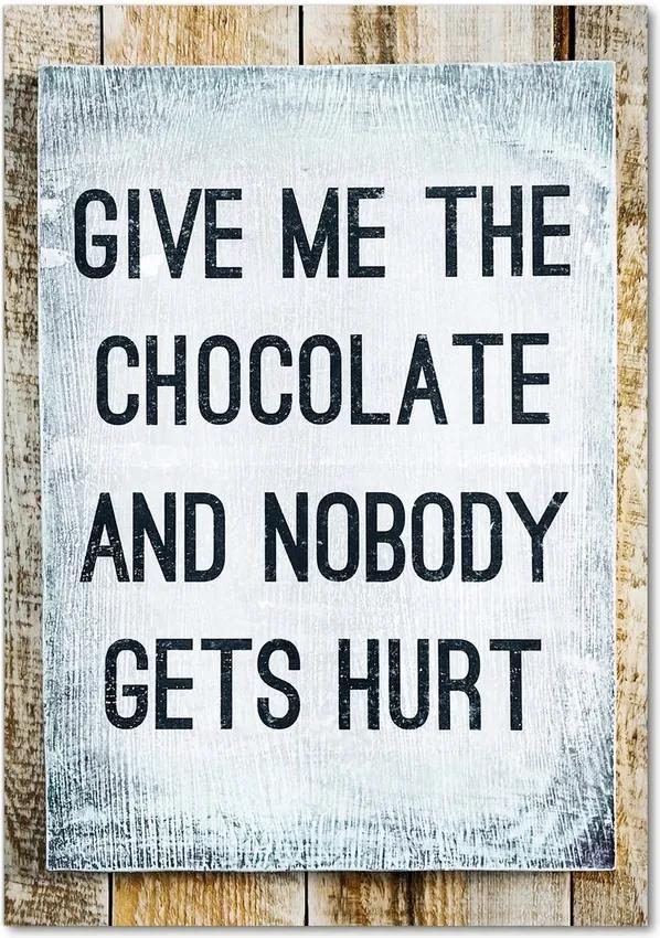 Tablou pe sticlă acrilică Ciocolata da