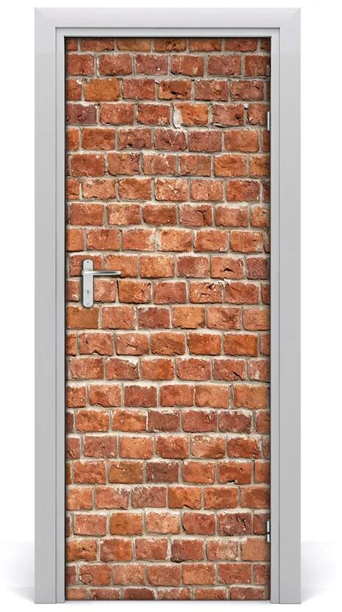 Autocolante pentru usi zid de cărămidă
