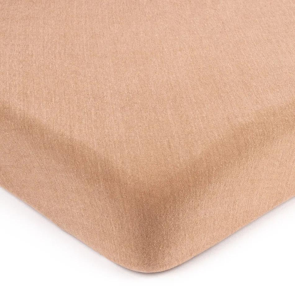 Cearșaf de pat 4Home jersey maro deschis, 180 x 200 cm, 180 x 200 cm