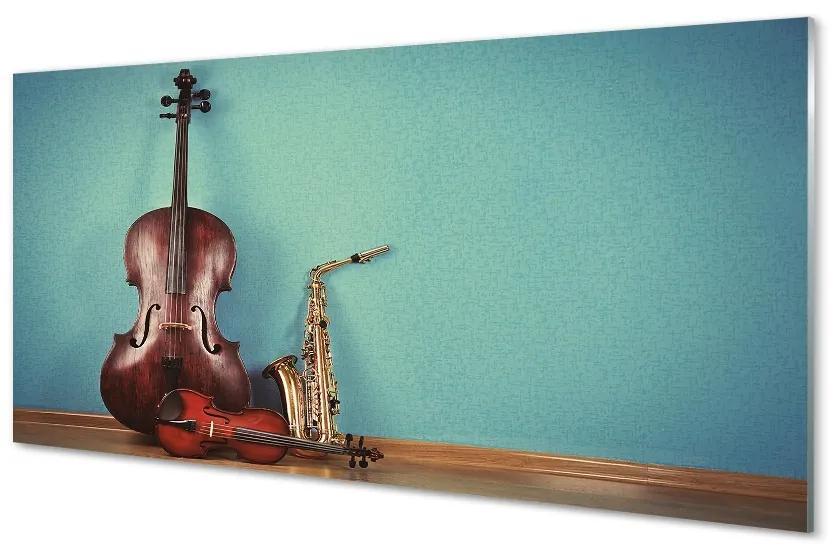 Tablouri pe sticlă vioară trompeta