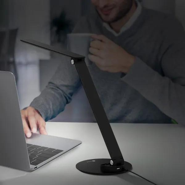 Lampa de birou LED TaoTronics, control Touch, 5 moduri de lumina, 9W, USB, Black