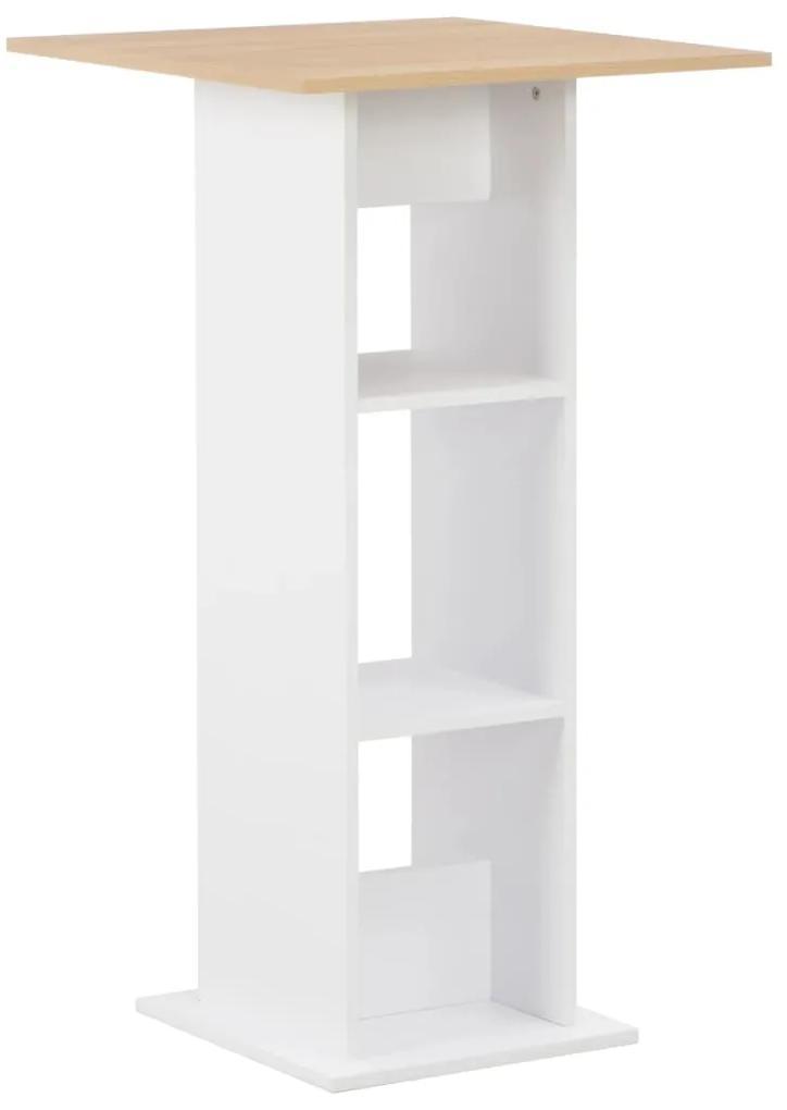 280209 vidaXL Masă de bar, alb, 60 x 60 x 110 cm