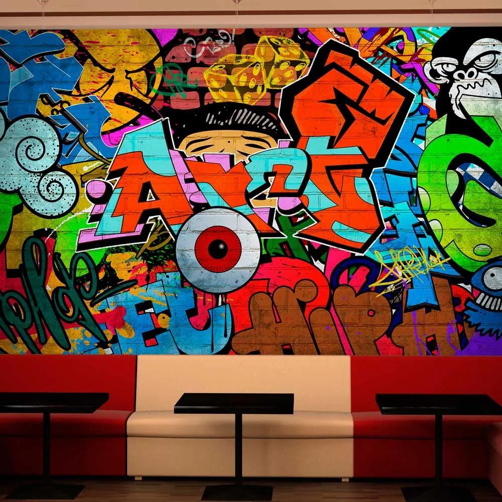 Bimago Fototapet - Graffiti art 200x140 cm