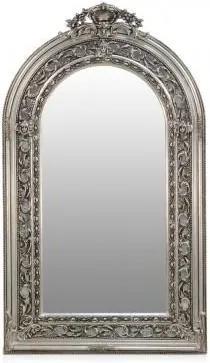 Oglinda argintie cu rama din lemn 110x185 cm Baroque