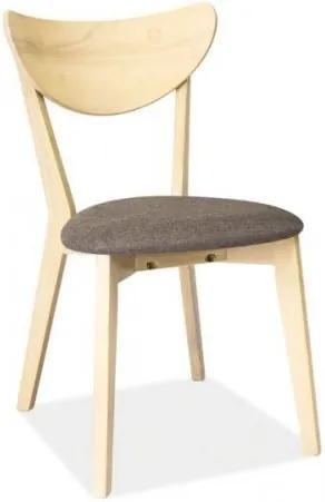 Scaun din lemn, cu sezut tapitat cu stofa CD-37 Grey / Light Oak, l45xA43xH79 cm