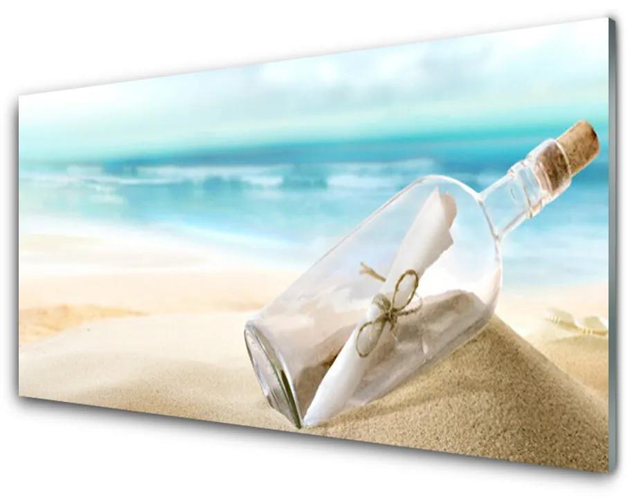 Tablou pe sticla acrilica Plaja Sticlă Art Brown