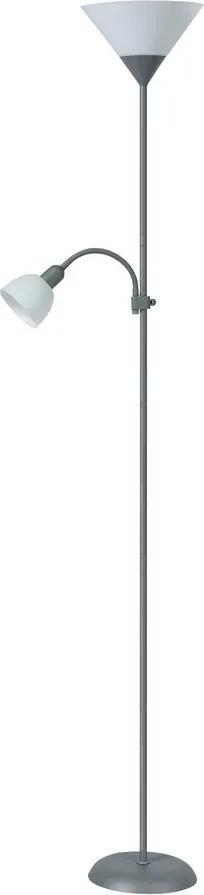 Rábalux 4028 Lampadar de citit Action argintiu metal E27 1x MAX 100W +                E14 1x MAX 25W IP20