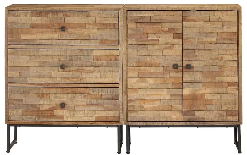 275655 vidaXL Set servantă, 2 piese, lemn de tec reciclat
