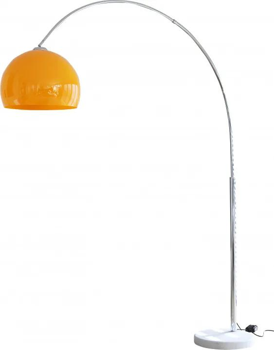 Lampadar din metal/marmura/plastic THIS & THAT 208 cm, metal orange , un bec