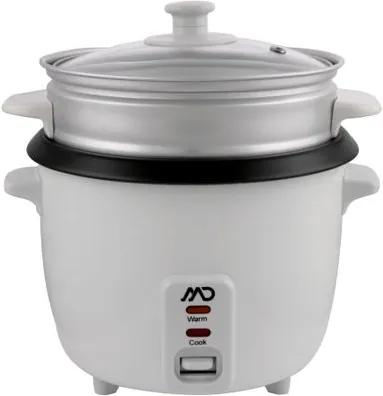 Aparat pentru gatit orez si legume MRC-5010 MD, 400W, vas 1L detasabil, functie mentinere la cald, Alb MRC-5010