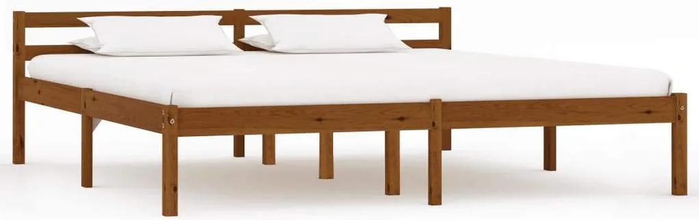 Cadru de pat, maro miere, 180 x 200 cm, lemn masiv de pin