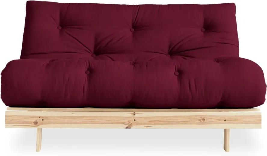 Canapea extensibilă Karup Design Roots Raw/Bordeaux