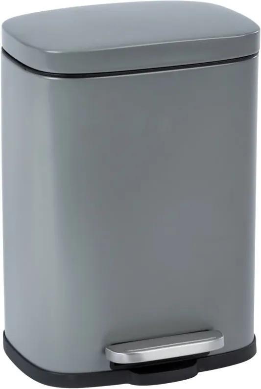Coș de gunoi cu pedală Wenko Leno, 5 l, gri