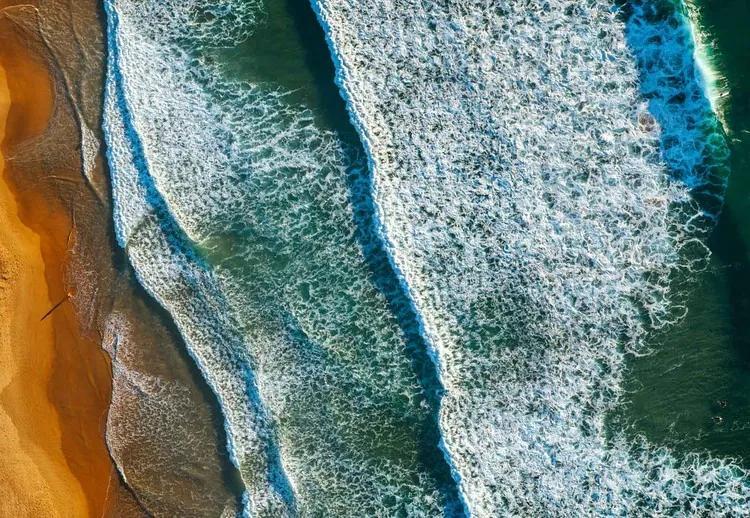 Curl Curl Aerial Fototapet, (368 x 254 cm)