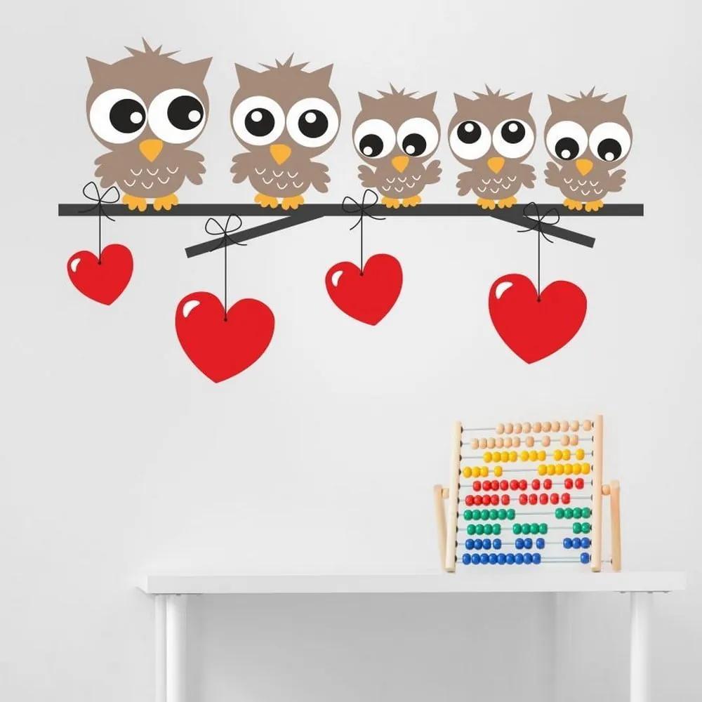 Autocolant decorativ pentru perete Owl Kids