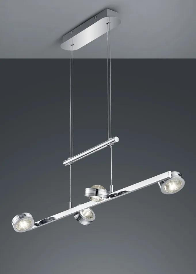 Trio LENTIL 372510806 Pendule LED crom metal incl. 8 x SMD, 2,3W, 3000K, 240Lm 240lm 3000K IP20 A++