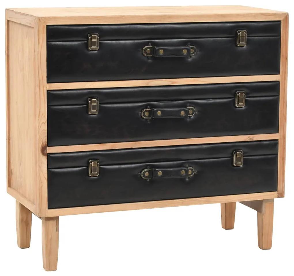 245778 vidaXL Dulap cu sertare, lemn masiv de brad, 80 x 36 x 75 cm