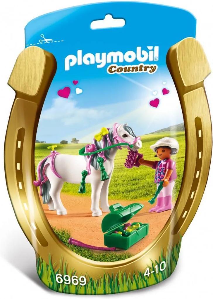 PlayMobil 4Ani+ Ingrijitor si Ponei cu Inimioare