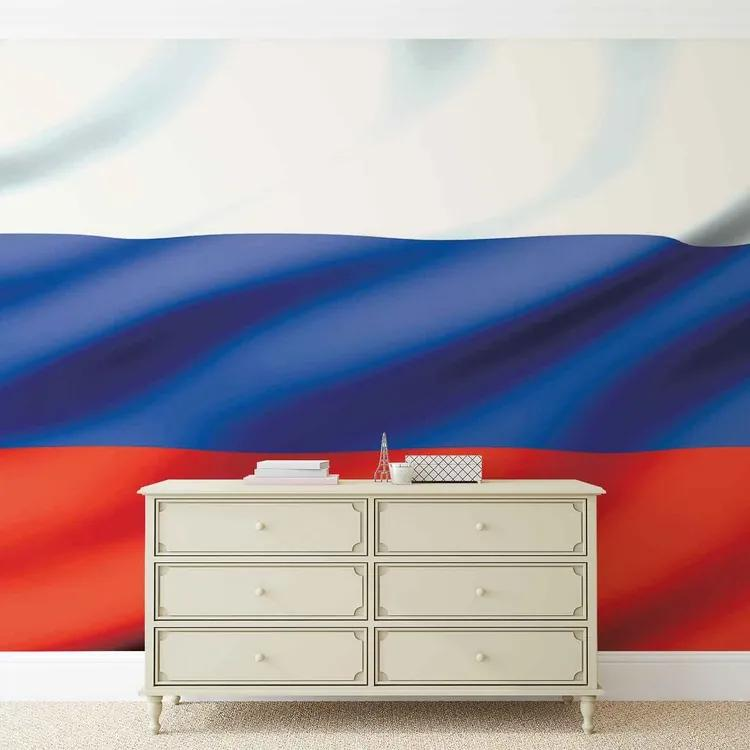 Flag Russia Fototapet, (254 x 184 cm)