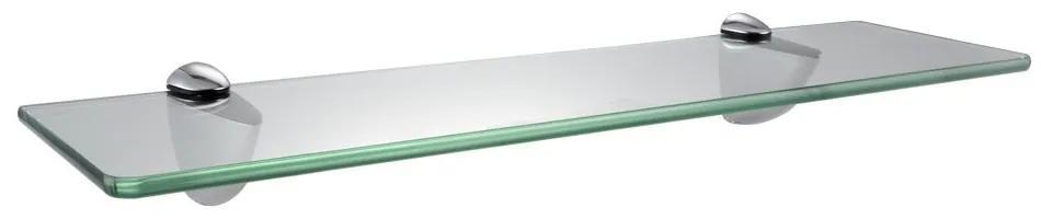 Polita suspendabila din sticla, 60x15x0.5 cm
