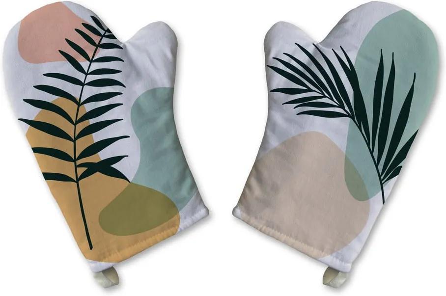 Set 2 mănuși de bucătărie din bumbac Butter Kings Botanical Art