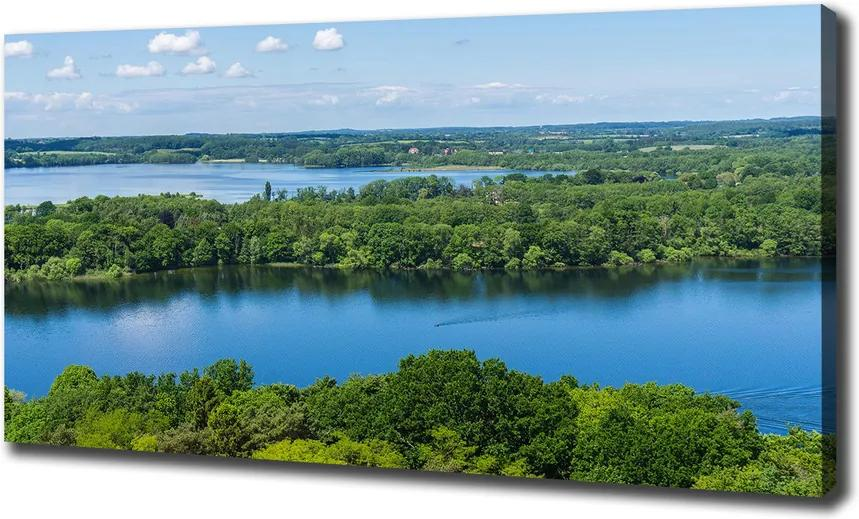 Print pe canvas Lake forest
