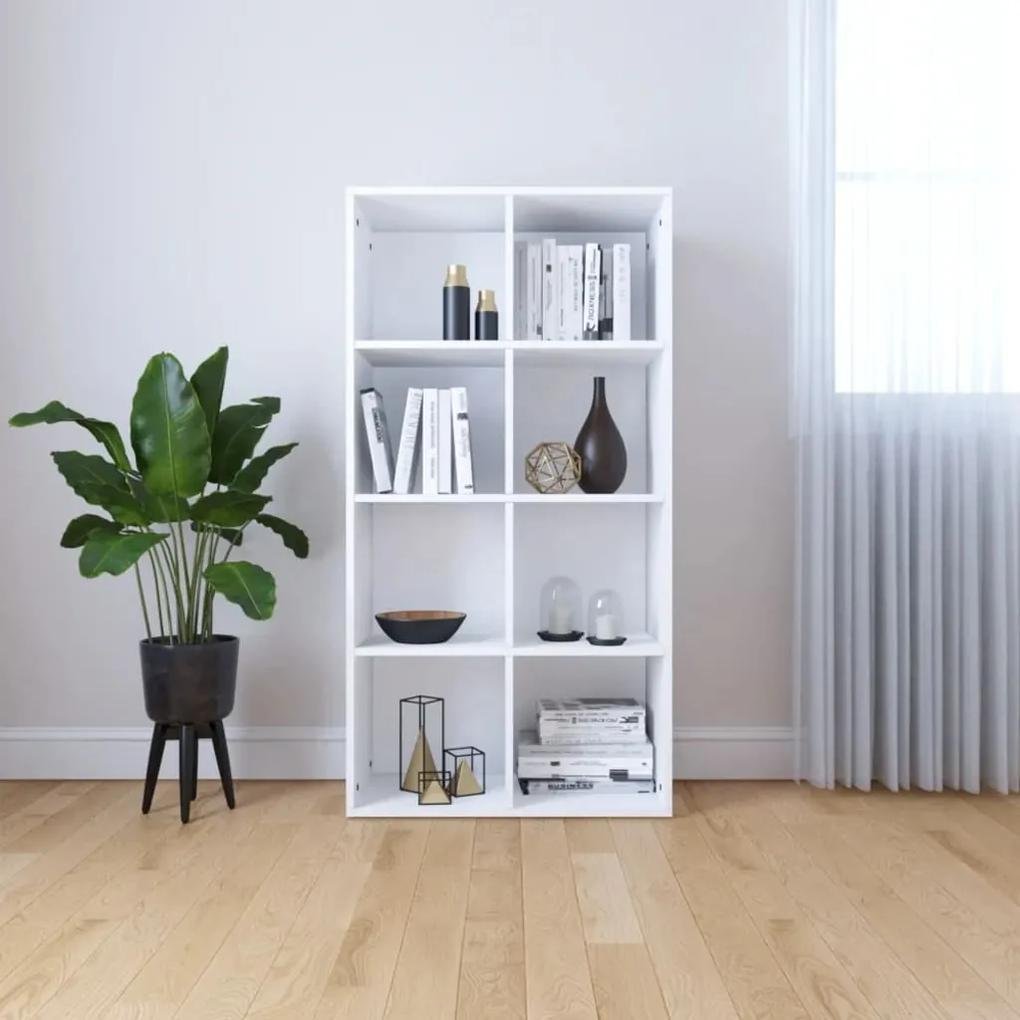 800153 vidaXL Bibliotecă/Servantă, alb, 66 x 30 x 130 cm, PAL