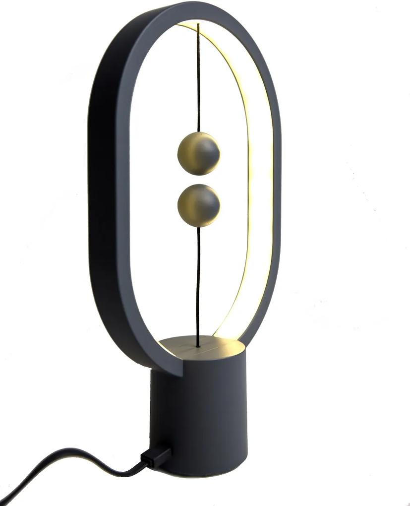 Veioză Heng Balance Mini - gri inchis, cablu USB-C 1m