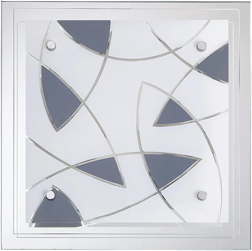 Rábalux 2471 Plafoniere transparent gri E27 2x Max 40W 315 x 315 mm