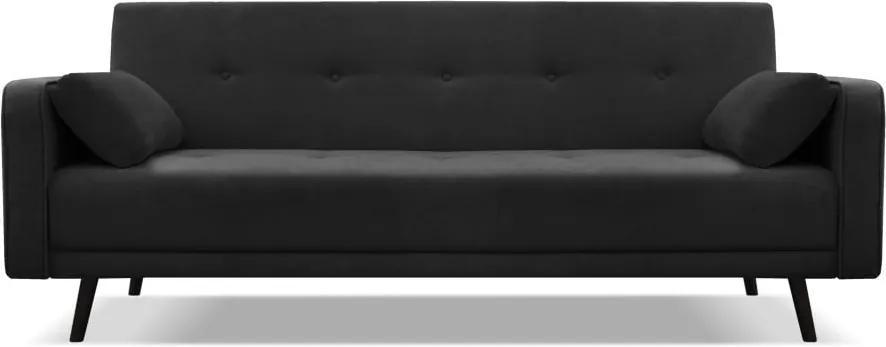 Canapea extensibilă Cosmopolitan design Bristol, negru, 212 cm