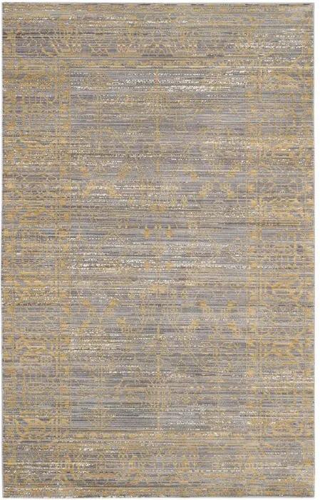 Covor, gri/auriu, 90 x 150 cm