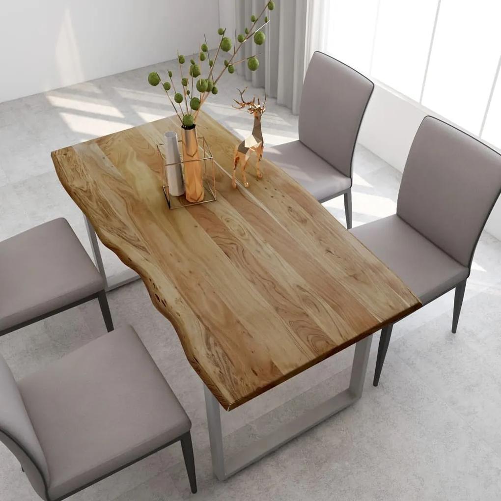 286477 vidaXL Masă de bucătărie, 160 x 80 x 76 cm, lemn masiv de acacia
