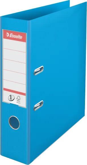 Biblioraft plastifiat ESSELTE 7.5cm cyan standard