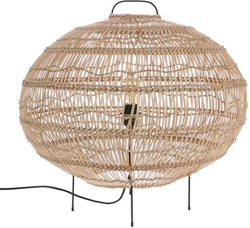 Lampa de Podea Ovala din Rachita - Rachita Natur Diametru (60x60x56 cm)