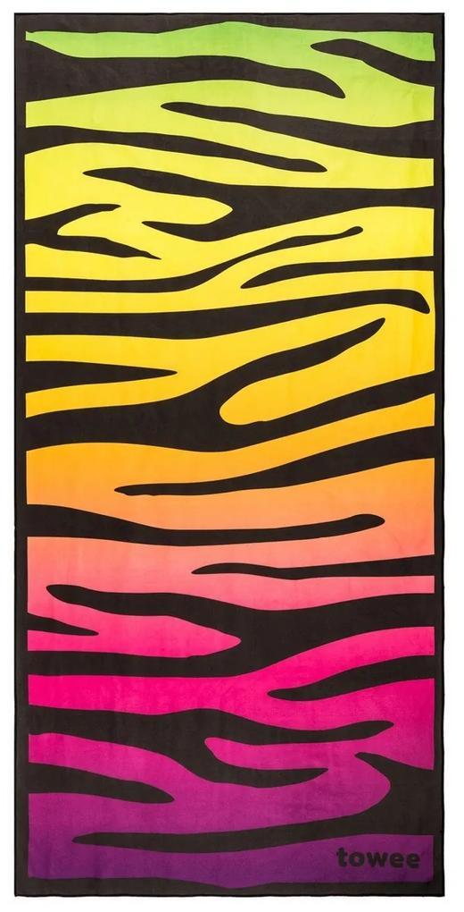Prosop cu uscare rapidă Towee ZEBRA, 70 x 140 cm