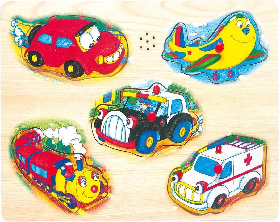 Bino puzzle pentru joc, cu mijloace de transport