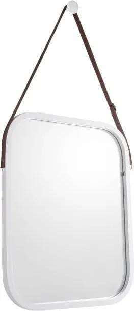 Oglindă de perete cu ramă albă PT LIVING Idylic, lungime 40,5 cm
