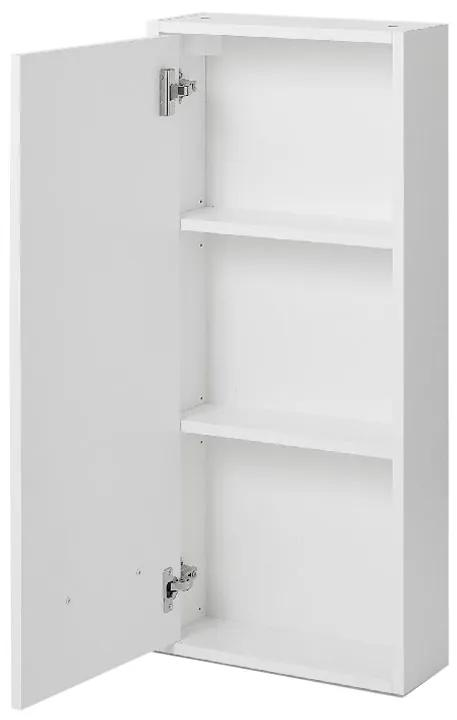 Cabinet suspendat pentru baie, 40x15x90 cm, PAL Alb