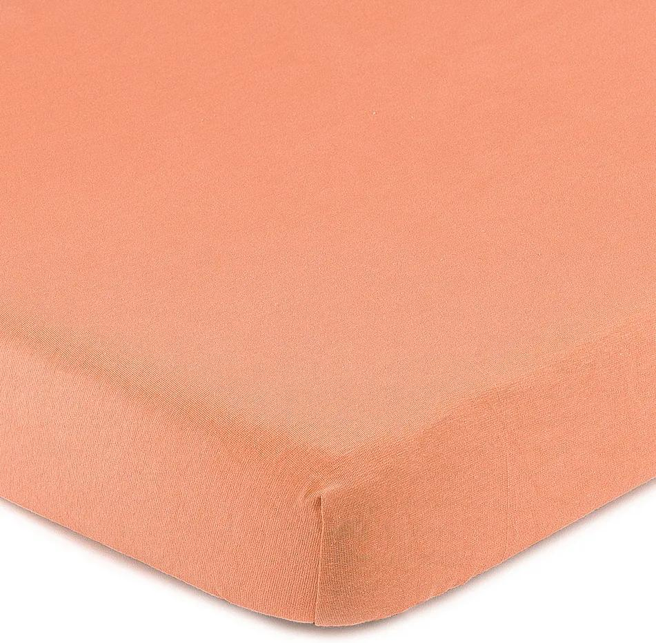 Cearşaf 4Home Jersey, cu elastan, somon, 160 x 200 cm, 160 x 200 cm