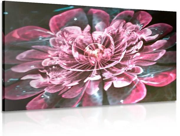 Tablou floare magică roz