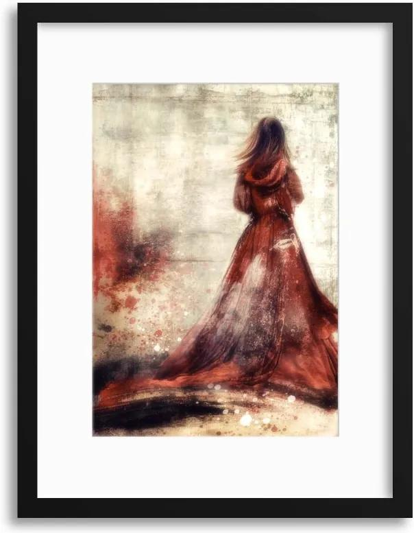 Imagine în cadru - She'll Wear the Red Dress by Charlaine Gerber 40x30 cm