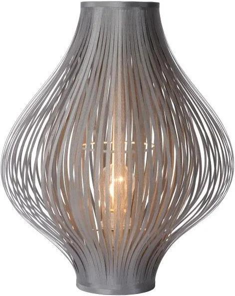 Lucide 06508/01/36 - Lampa de masa POLI 1xE27/18W/230V gri