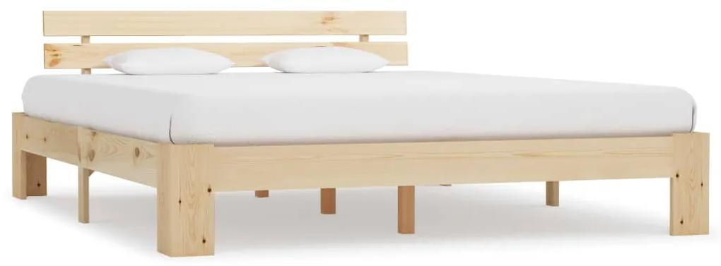 283164 vidaXL Cadru de pat, 160 x 200 cm, lemn masiv de pin